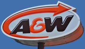 Znak A&W Zdjęcia Royalty Free