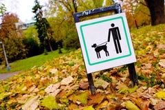 Znak w parku Obrazy Royalty Free