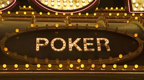 znak w pokera. Zdjęcia Stock