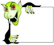 znak wampira kreskówek gospodarstwa Zdjęcia Royalty Free