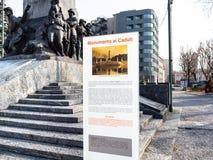 Znak Wojenny pomnik Monumento ai Caduti w Lecco obraz royalty free