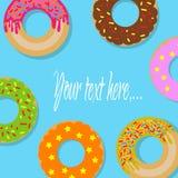 Znak z donuts Zdjęcie Stock