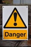 znak zagrożenia Obraz Royalty Free