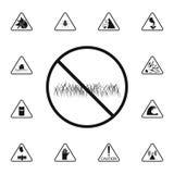 znak zakazuje spacer na gazon ikonie Szczegółowy set znak ostrzegawczy ikony Premii ilości graficznego projekta znak Jeden t ilustracji