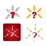 Znak zapytania ikony set Obrazy Stock