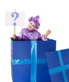 Znak zapytania niespodzianka Zdjęcia Royalty Free