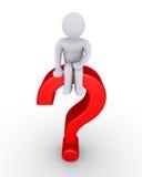 Znak zapytania z osobą Zdjęcia Stock