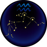 znak zodiaku wodnika Obrazy Royalty Free