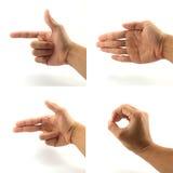 Znaka i sygnału ręka Zdjęcia Stock