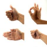Znaka i sygnału ręka Zdjęcie Stock