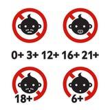 Znaka ostrzegawczego limit wieku Obrazy Stock
