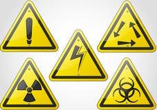Znaka ostrzegawczy set Obrazy Stock