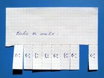 znaka papierowy uśmiech Zdjęcia Stock