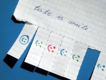 znaka papierowy uśmiech Fotografia Royalty Free