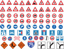 znaka ruch drogowy Obrazy Royalty Free