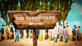 Znaka Ulicznego podatku konsultant royalty ilustracja