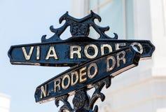 Znaka ulicznego rodeo przejażdżka Zdjęcia Royalty Free