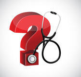 Znaka zapytania stetoskopu ilustracyjny projekt Obraz Stock
