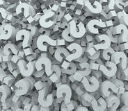 Znaka Zapytania tła quizu testa uczenie wyobraźnia Obrazy Royalty Free