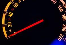 znaki świetlne nocy samochód instrument zespołu orzekającego Obrazy Stock
