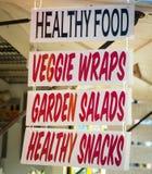 Znaki dla jedzenia Zdjęcie Royalty Free