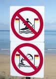 Znaki dla surfingowów w ballybunion obraz royalty free