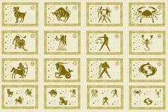 znaki grać główna rolę zodiaka Zdjęcie Royalty Free