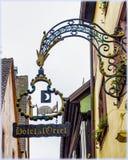 Znaki handel w Alsace Zdjęcie Royalty Free