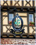 Znaki handel w Alsace Zdjęcie Stock