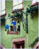 Znaki handel w Alsace Obrazy Stock