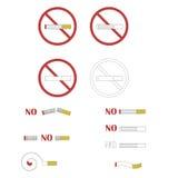 Znaki i symbole niebezpieczeństwa dymienie Zdjęcia Stock