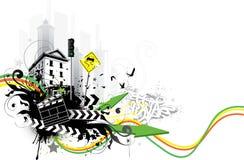 znaki miejskich budynków Royalty Ilustracja
