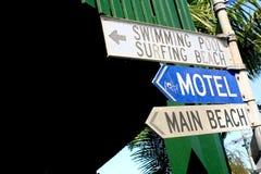 znaki na plażę Obrazy Royalty Free