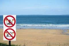 Znaki ostrzegawczy dla surfingowów w ballybunion Zdjęcie Stock