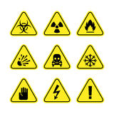 Znaki ostrzegawczy niebezpieczeństwo Obraz Royalty Free