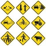 Znaki ostrzegawczy używać w Brazylia ilustracji