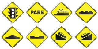 Znaki ostrzegawczy używać w Urugwaj Obrazy Stock