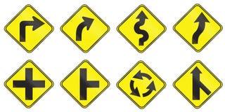 Znaki ostrzegawczy używać w Urugwaj Fotografia Stock