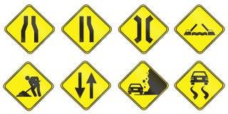 Znaki ostrzegawczy używać w Urugwaj Zdjęcia Royalty Free