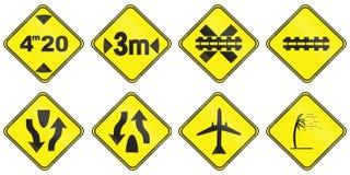 Znaki ostrzegawczy używać w Urugwaj Zdjęcia Stock