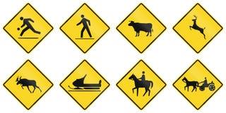 Znaki Ostrzegawczy w Ontario, Kanada - ilustracji