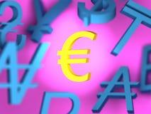 Znaki pieniądze Zdjęcie Royalty Free