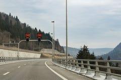 Znaki prędkości ograniczenia Fotografia Royalty Free