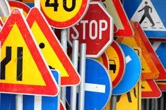 Znaki, ruch drogowy Zdjęcia Stock