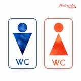 Znaki - toaleta, odmienianie pokój, samiec, kobieta, wc Obrazy Royalty Free