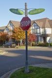 Znaki uliczni w Willsonville Oregon Zdjęcia Stock