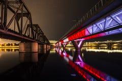 znaki świetlne most zdjęcia royalty free