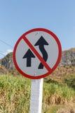 Znaki zabrania dogonienie Obrazy Stock