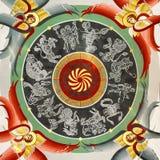 Znaki zodiak malowali na suficie Zdjęcie Stock