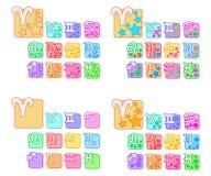Znaki zodiaka set Obrazy Stock